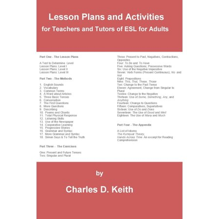Lesson Plans and Activities for Teachers and Tutors of ESL for Adults - eBook