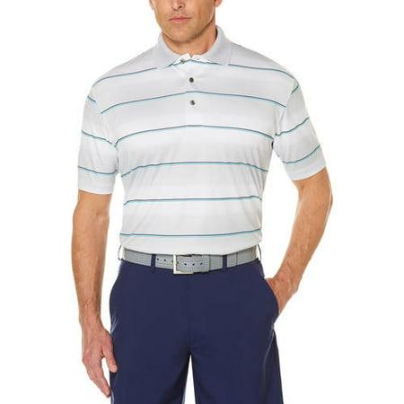 Big Men's Performance Short Sleeve Stripe Golf Polo