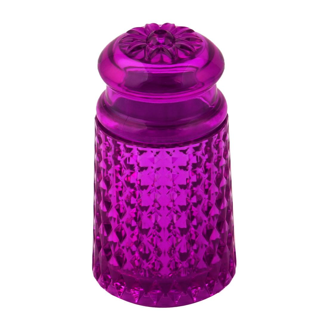 Home Kitchen Plastic Can Flower Pattern Head Toothpick Holder Storage Box Purple