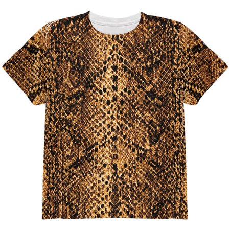 Halloween Desert Brown Snake Snakeskin Costume All Over Youth T Shirt](Snake Costume)