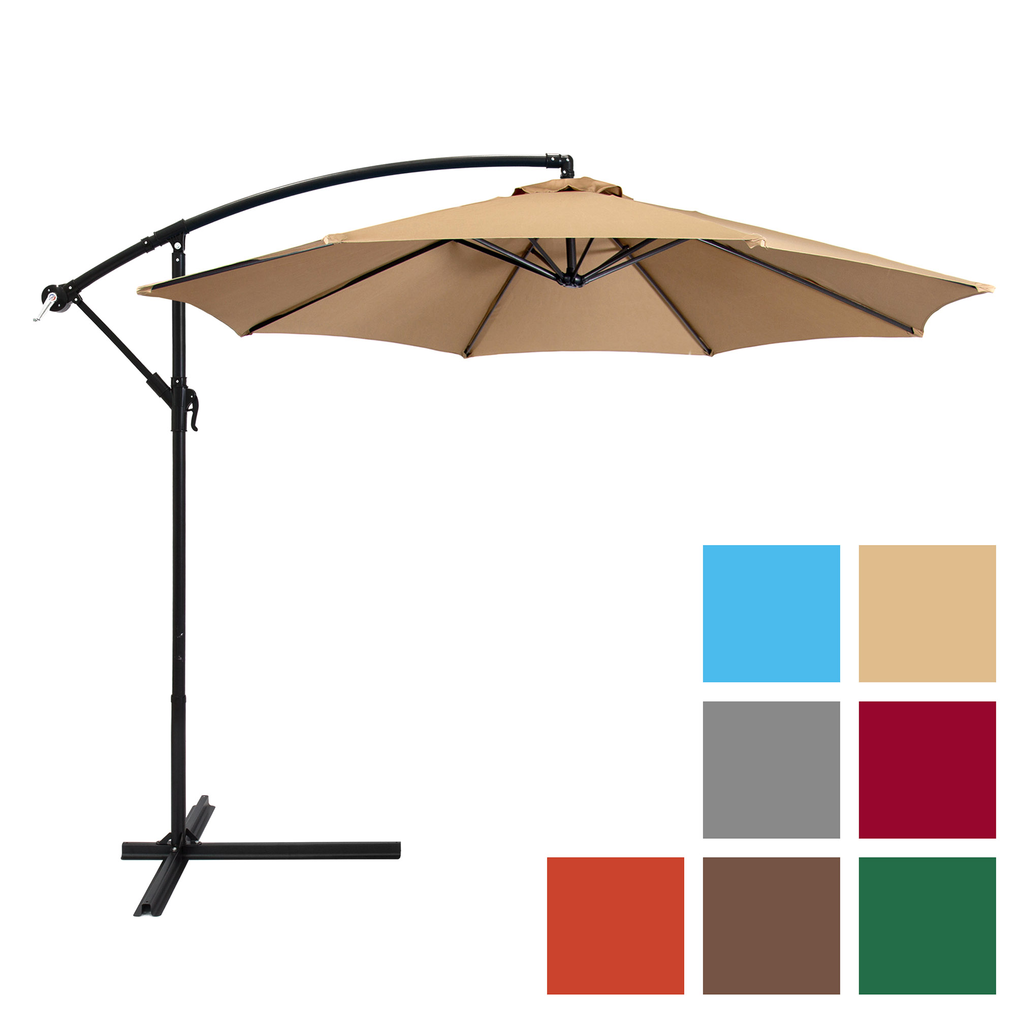 Best Choice Products 10ft Offset Hanging Outdoor Market Patio Umbrella Multiple Colors by Best Choice Products