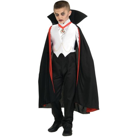 Dracula Boys Child Halloween Costume, One Size, M (8-10) - Dracula Halloween Costumes For Men