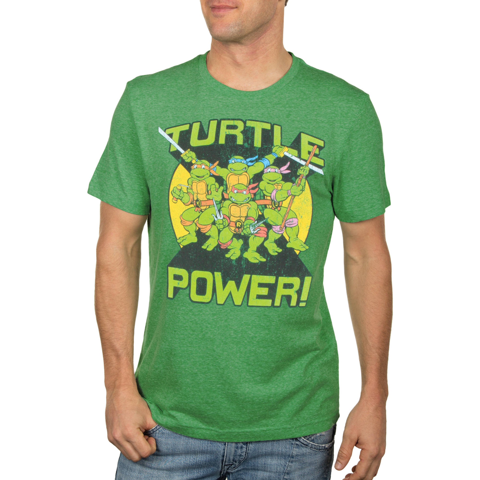 Teenage Mutant Ninja Turtle Turtle Power Big Men's Graphic Tee