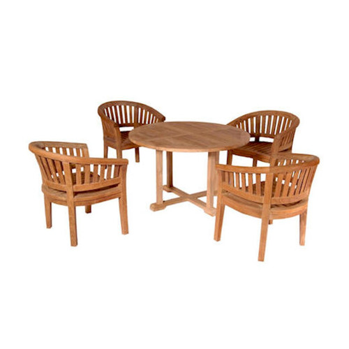 Anderson Teak Tosca 5 Piece Dining Table Set by Anderson Collection