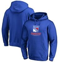 New York Rangers Team Lockup Pullover Hoodie - Blue