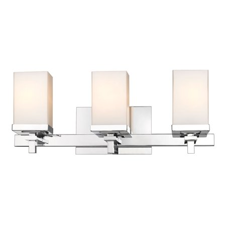 Laurel Designs DDDD-BA3 3 Light Bath Vanity in Chrome
