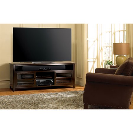 bello 75 in tv stand dark espresso. Black Bedroom Furniture Sets. Home Design Ideas