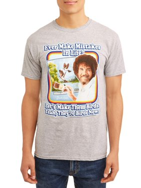 efefead8c Product Image Bob Ross Men's Painting Short Sleeve Graphic T-Shirt, up to  Size 3XL