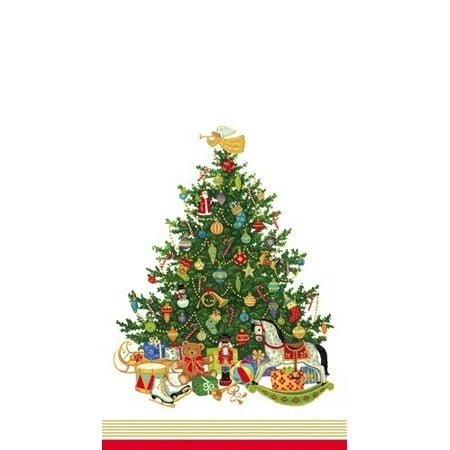 Christmas Tree Napkin - Christmas Paper Guest Napkins 15pk 12760G Oh Christmas Tree Ivory