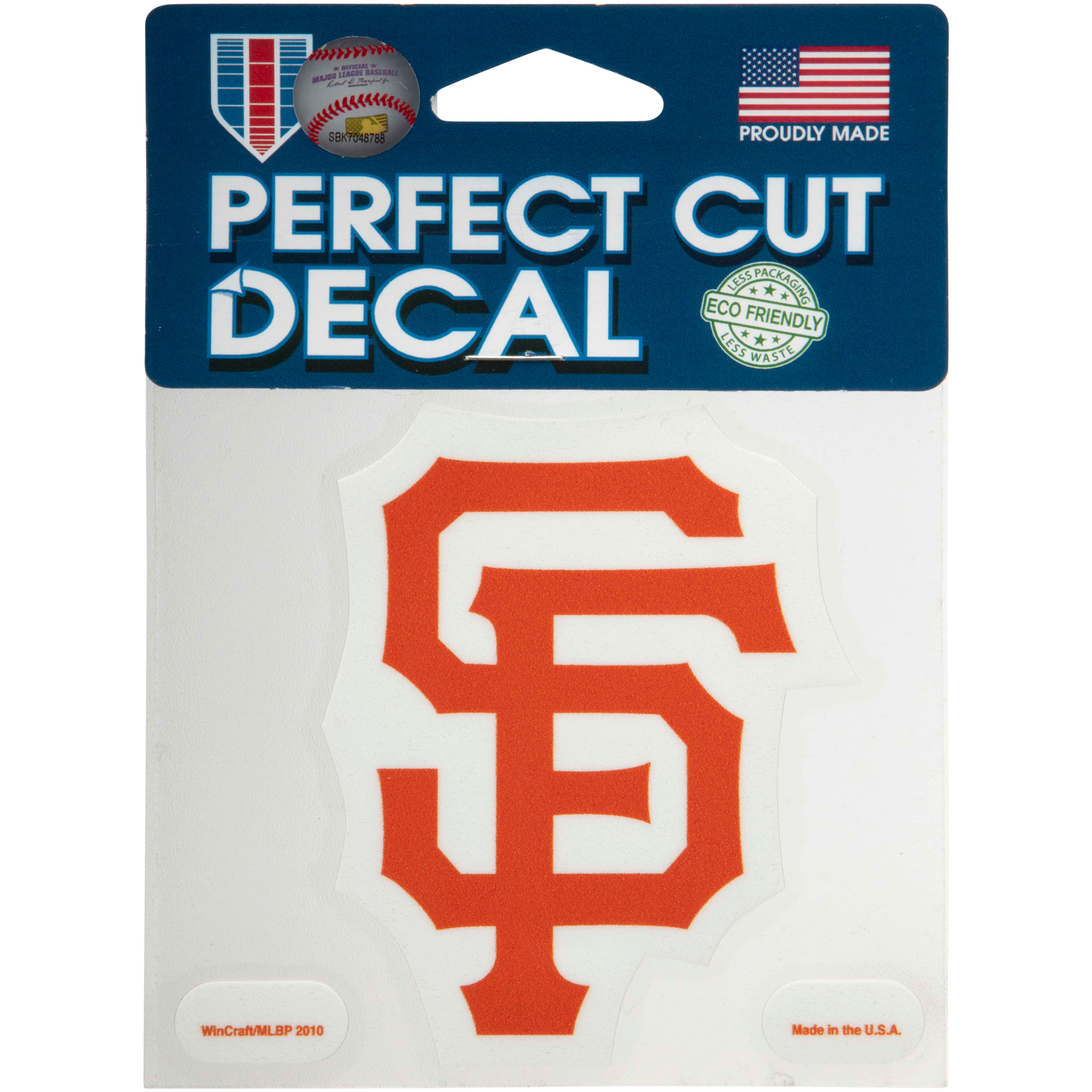 WinCraft San Francisco Giants 4'' x 4'' Color Perfect Cut Decal - Orange - No Size