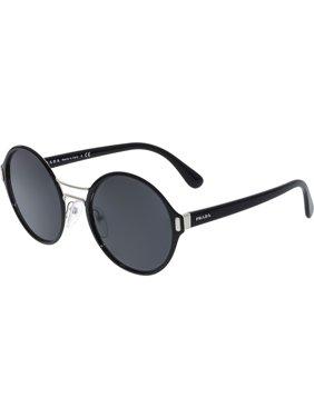 94cc4c6e37c2 Product Image Prada Women s PR57TS-GAQ5S0-54 Black Round Sunglasses