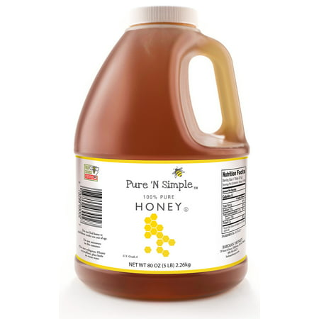 (2 Pack) Pure 'N Simple Honey, 80 OZ - Hot Rod Honey