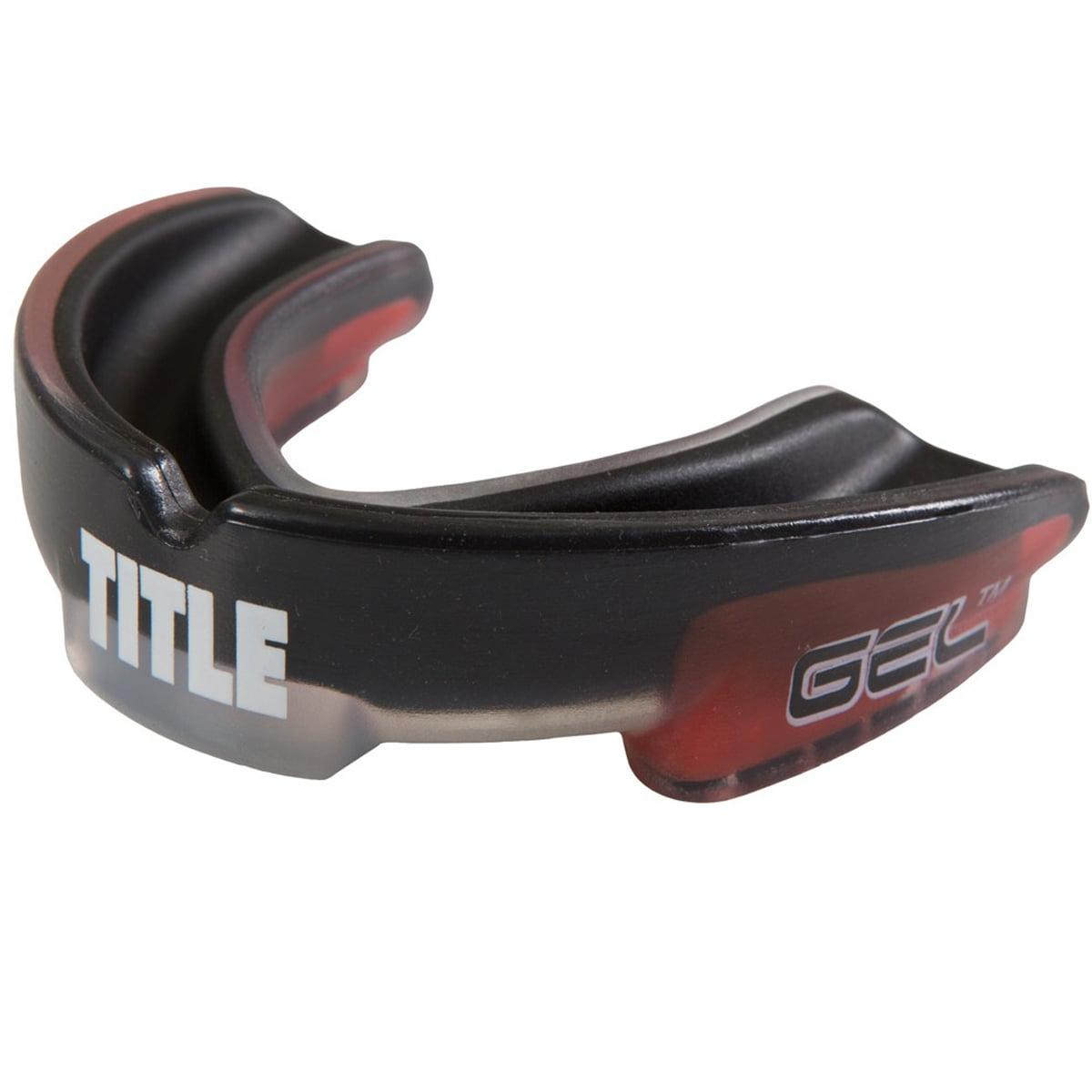 Title Boxing Gel Triple-Shox Mouthguard - Black/Red