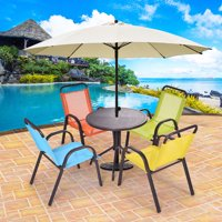 Costway Patio 5pcs Kids Table And Chairs Indoor Dining Set Play Children Activity