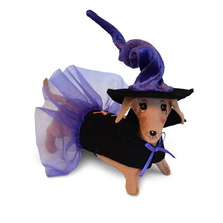 Annalee Dolls 5in 2018 Halloween Dog Witch Plush New with Tags - Witch Staff