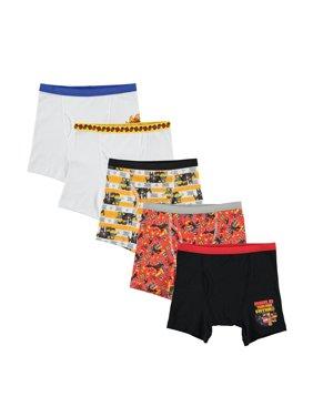 LEGO Movie, Boys Underwear, 5 Pack Boxer Briefs (Little Boys & Big Boys)