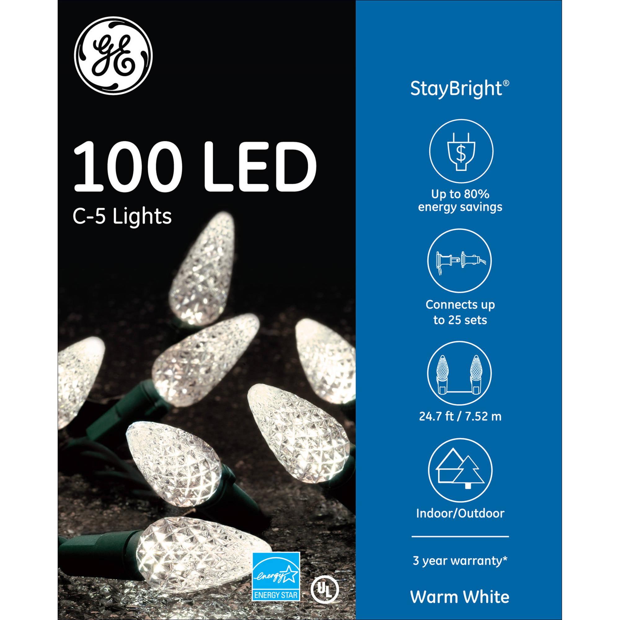 Ge Led Christmas Lights.Ge 100ct Staybright C5 Led Christmas Light String Set Multi Color