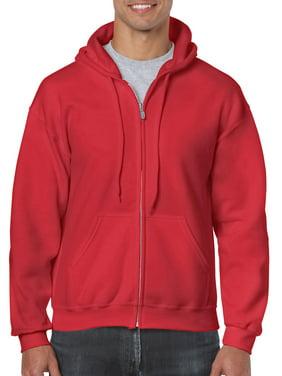 Gildan Men's and Big Men's Heavy Blend Full Zip Hooded Sweatshirt, up to Size 3XL