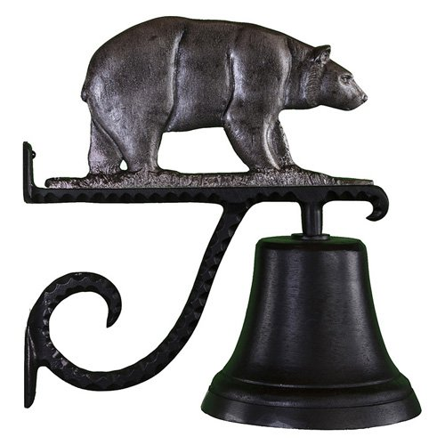 Cast Bell with Swedish Iron Bear Ornament