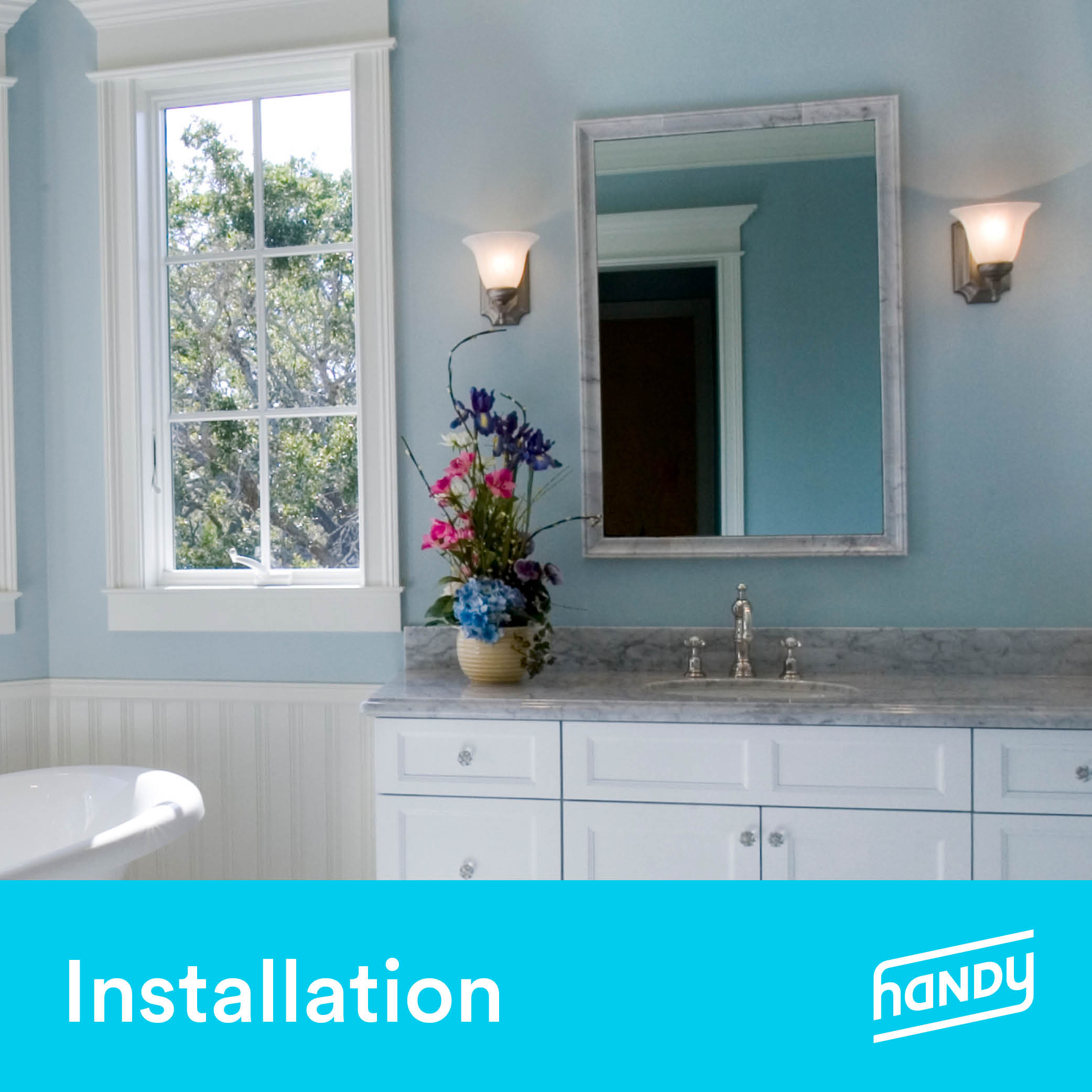 Bathroom and Vanity Lighting Installation by Handy