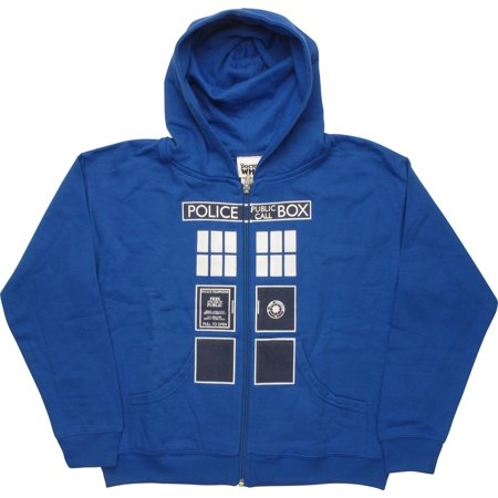 Doctor Who Police Box Zip Youth Hoodie - Doctor Who Hoodie