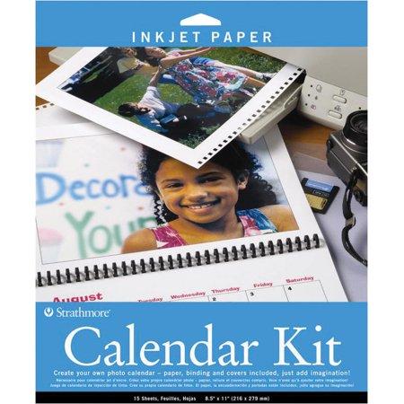 """Strathmore 8.5"""" x 11"""" Inkjet Photo Calendar Kit"""
