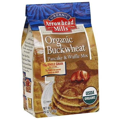 Arrowhead Mills Organic Buckwheat Pancake & Waffle Mix, 26 oz, (Pack of 6)