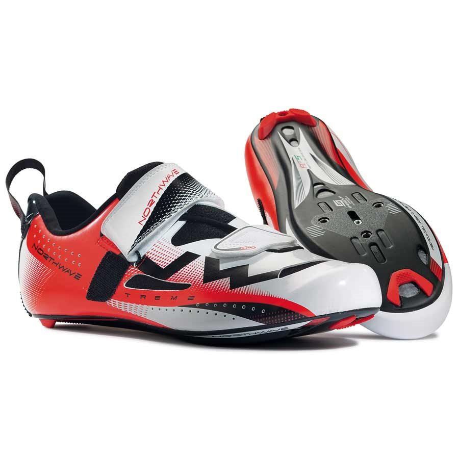 Northwave, Extreme Triathlon, Triathlon shoes, White/Red, 42