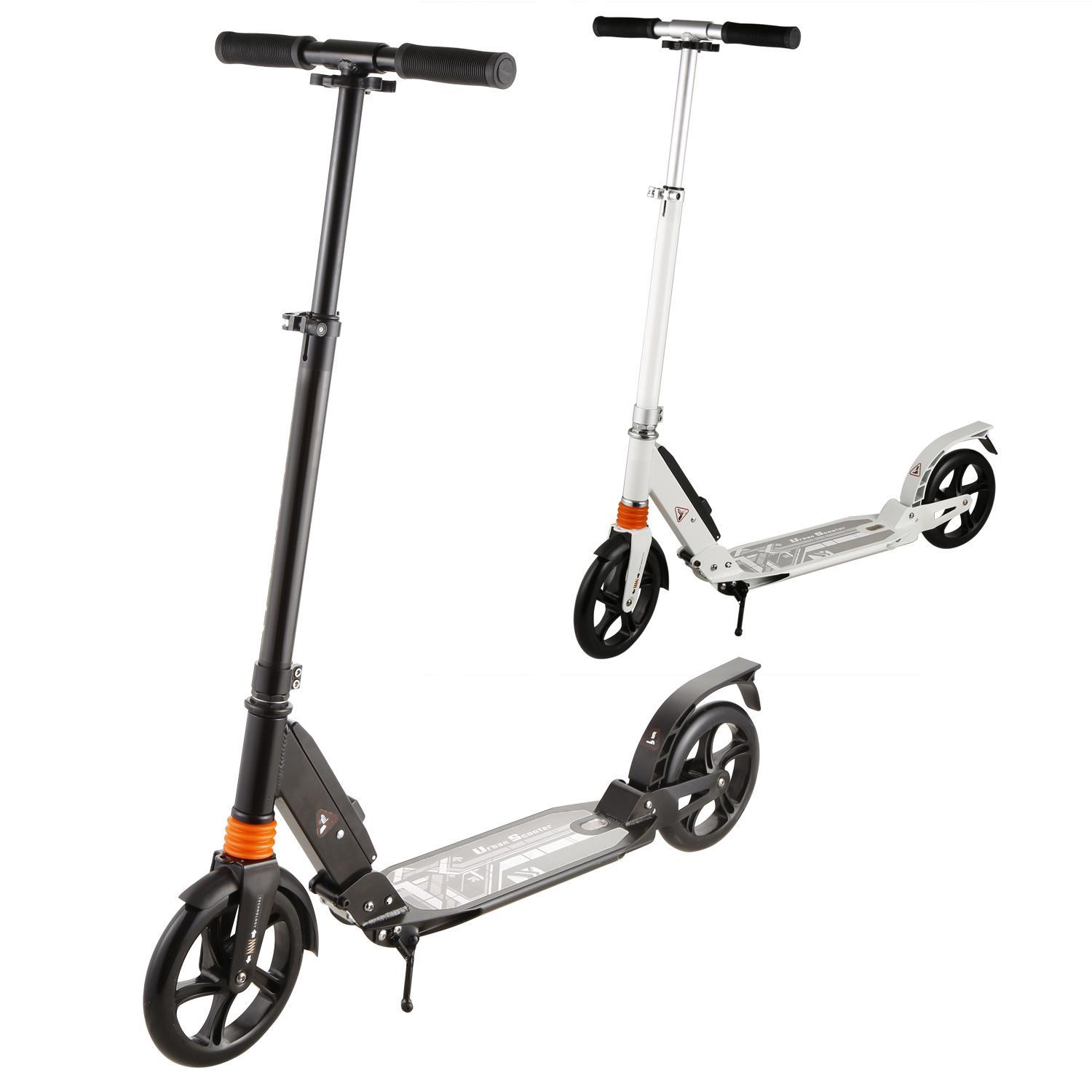 Adult Kick Scooter, Foldable Lightweight 3 Levels Adjustable Height 2-Wheel Kick Scooter for Teenager by