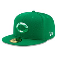 Cincinnati Reds New Era 2020 St. Patrick's Day On Field 59FIFTY Fitted Hat - Kelly Green
