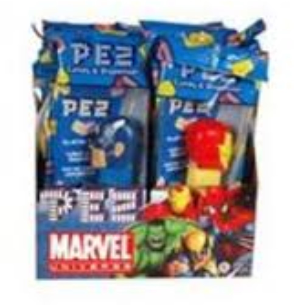 PEZ Marvel Comics Assorted, 12 ea (Pack of 4)