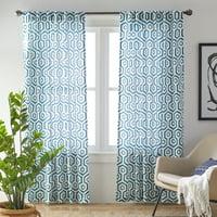 MoDRN Neo Luxury Geo Print Curtain Panel Pair