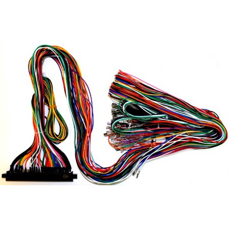 Jamma Plus Board Full Cabinet Wiring Harness Loom for three sided tails on warping a 4 harness loom, electric harness for loom, wiring loom sleeve,