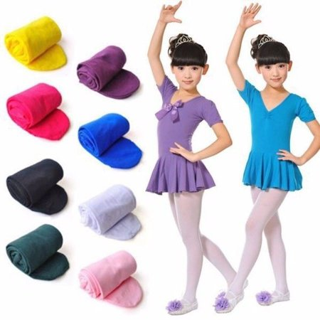 Kids Girls Soft Pantyhose Tights Stockings Ballet Dance Socks Velvet Candy Color White Wool Tights