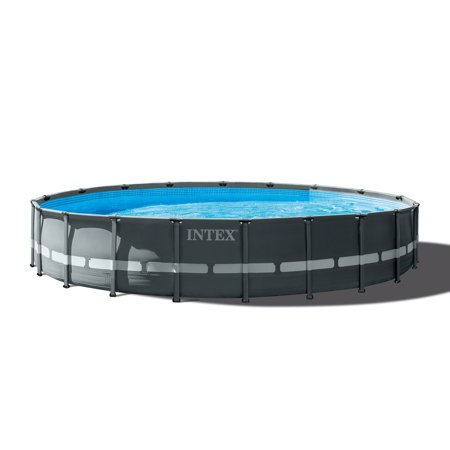 "Intex 24' x 52"" Ultra XTR Frame Round Swimming Pool Set with Sand Filter Pump"