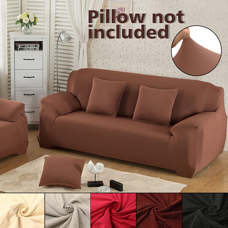 Stretch Sofa Slipcover   1Pc Stretch Fabric Sofa Furniture Slipcover Pet  Dog Sectional Corner Couch Covers Loveseat Length Between 90 135cm, Width  ...