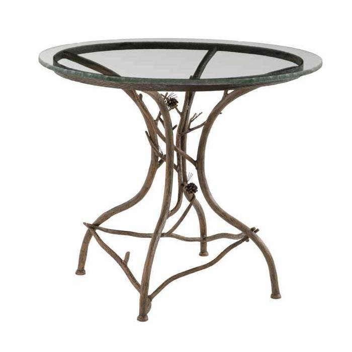 Table with Round Glass Tabletop