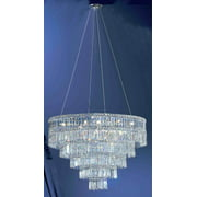 Sofia 11-Light Chandelier in Chrome Finish (Crystalique)