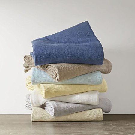 Madison Park Freshspun Basketweave Cotton Blanket Natural King - image 1 of 1