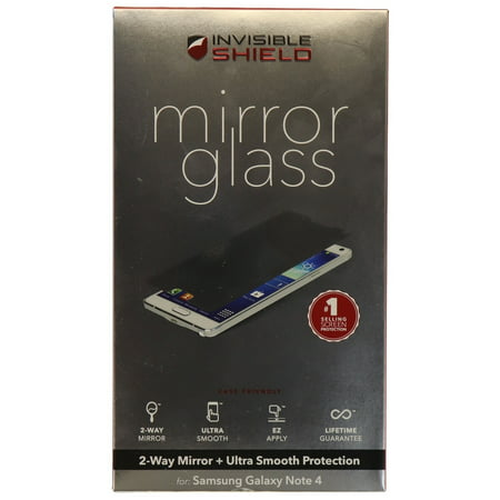 ZAGG InvisibleShield Mirror Glass Screen Protector for Samsung Galaxy Note 4 (Glass Screen Protector For Note 4)