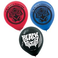 Black Panther Latex Balloons (6ct)