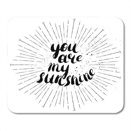 Rouge Brush - KDAGR You are My Sunshine Romantic Quote for Valentines Day Save The Date Hand Brush Pen Modern Rough Edges Mousepad Mouse Pad Mouse Mat 9x10 inch