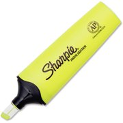 Sharpie Sharpie Clear View Highlighter - Chisel Marker Point Style - Fluorescent Yellow Ink - 12 / Box (1897847bx)