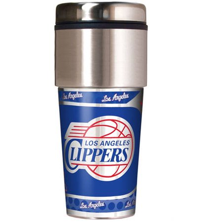 NBA Los Angeles Clippers 16-Ounce Travel Tumbler with Wrap by