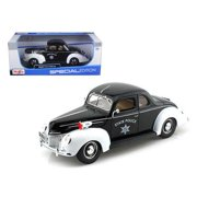 1939 Ford Deluxe Police 1/18 Diecast Model Car by