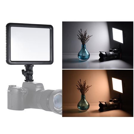 Digital Cameras Hot Shoe - Godox LEDP120C Ultra-thin 12W Dimmable LED Video Light Panel Fill-in On-camera Lamp 3200K-5600K Bi-color Temperature w/ Hot Shoe Adapter for Cannon Nikon Sony Digital DSLR Camera Studio Photography