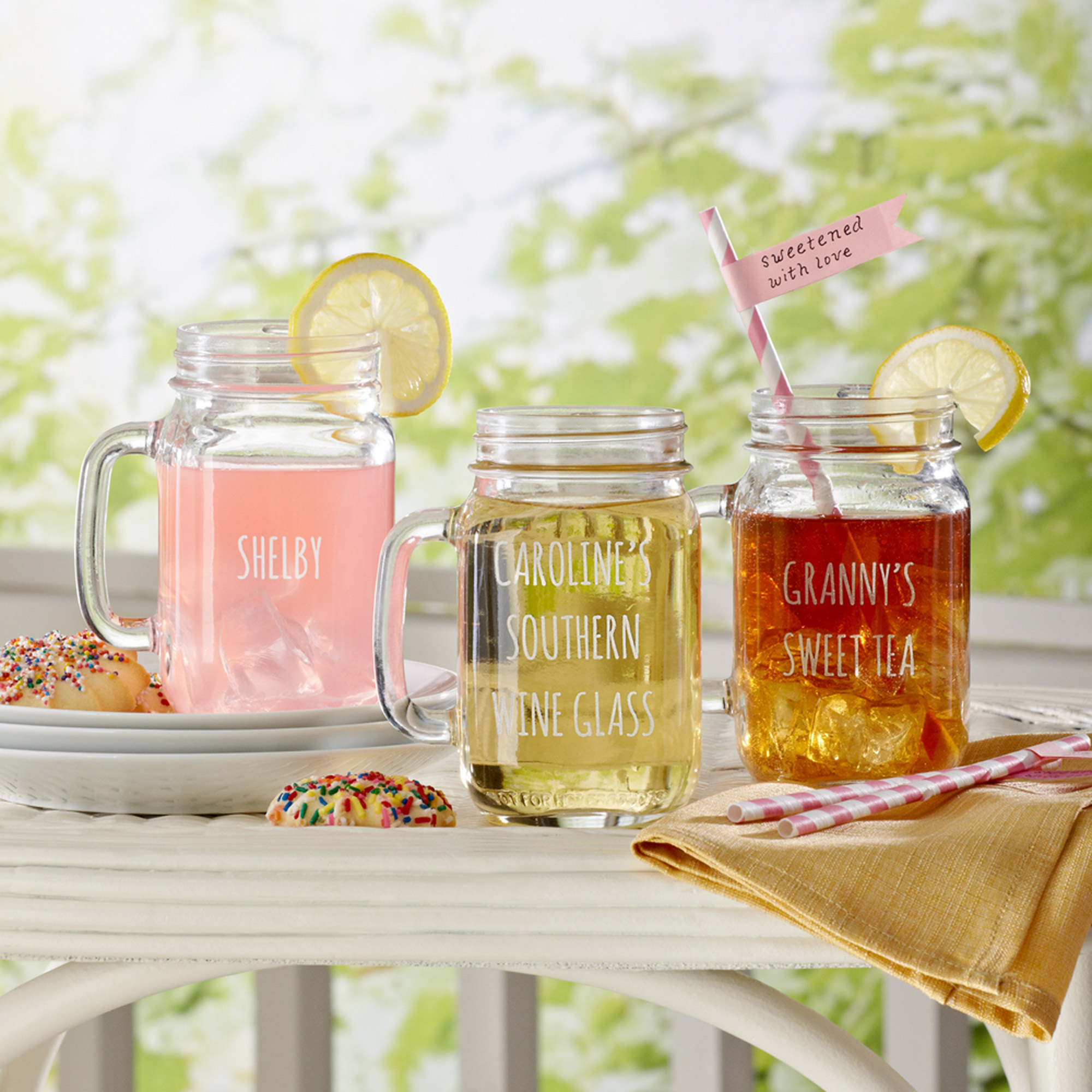 Personalized Sippin' Time Mason Jar, 16 oz