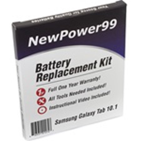 Samsung GALAXY Tab 10.1 Battery Replacement Kit with Tools, Video Instructions, Extended Life Battery and Full One Year