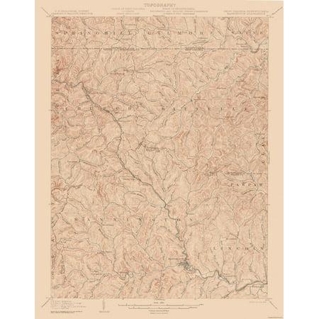 Topographic Map West Virginia.Topographic Map Mannington West Virginia Quad Usgs 1905 23 X