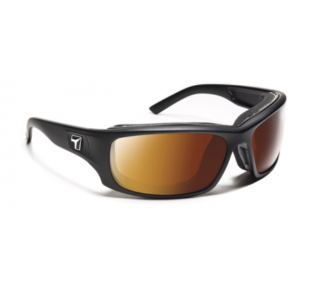 Image of 7 Eye Air Shield Panhead Sunglasses, SharpView Copper Lens, Matte Black Frame,M-XL